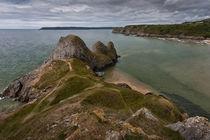 Three Cliffs Bay and the Great Tor von Leighton Collins