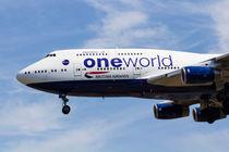 One World Boeing 747 by David Pyatt
