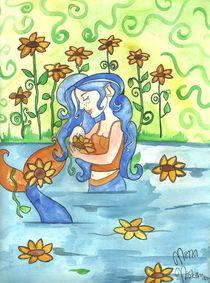 Sunflower mermaid von fairychamber