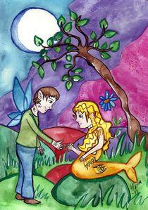 Goldfish princess by fairychamber