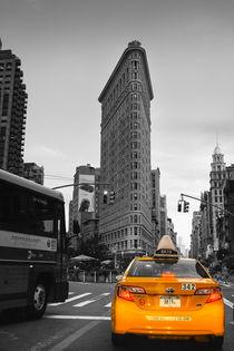New York, Flatiron Building, Taxi von Fabienne Kruse