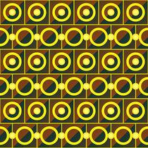 Tiled yellow circles by Gaspar Avila