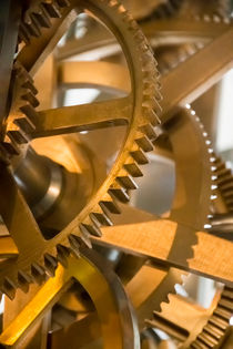 gear of a clockwork of old tower clock von paganin