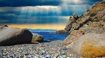 Sun rays through the clouds, Crimea, Black sea, Russia.  by Yuri Hope