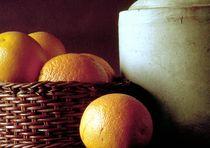 Stillleben mit Orangen by Rolf Hackemann