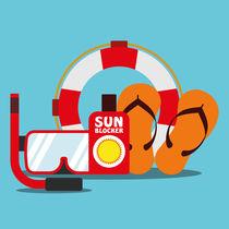 Illustration Sommer, Reise, Urlaub by greenoptix