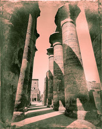 the colonnade of Amenophis III Luxor Temple Egypt by Sean Burke