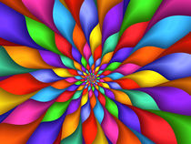 Psychedelic Rainbow Petals  by Kitty Bitty