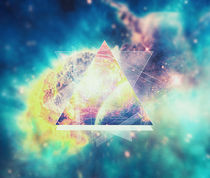 Awsome collosal deep space triangle art sign von badbugsart