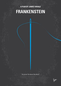 No483 My Frankenstein minimal movie poster by chungkong