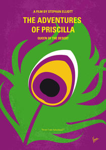 No498 My Priscilla Queen of the Desert minimal movie poster by chungkong