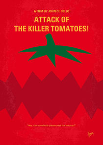 No499 My Attack of the Killer Tomatoes minimal movie poster von chungkong