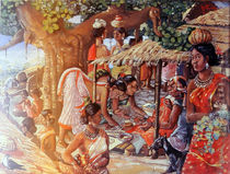 Santhal tribe at work by m-c-thakur