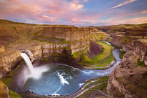 Palouse Falls in Washington, USA at sunset by Sara Winter