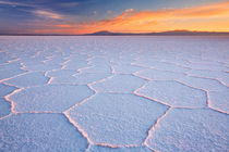 Salt flat Salar de Uyuni in Bolivia at sunrise by Sara Winter