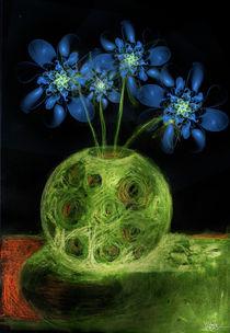 Fraktal Blumen blau - Deern vun Diek von deern-vun-diek