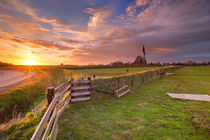 Church of Den Hoorn on Texel island in The Netherlands von Sara Winter