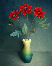 'Three Red Flowers' by Ilgvars Rauda