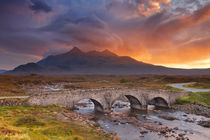 Sligachan Bridge and The Cuillins, Isle of Skye at sunset by Sara Winter
