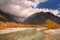 Azusa River and Autumn colours in Kamikochi, Japan by Sara Winter