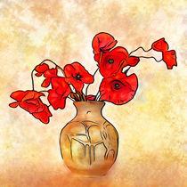 Mohnblumen in Vase von darlya