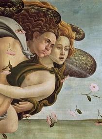 Zephyr und Chloris, Detail aus Die Geburt der Venus von Sandro Botticelli