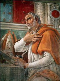 St. Augustinus in seiner Zelle von Sandro Botticelli