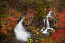 Ryuzu Falls near Nikko, Japan in autumn by Sara Winter