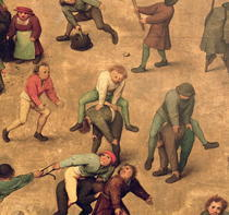 Kinderspiele: Detail der spielenden Kinder Springbock by Pieter Brueghel the Elder