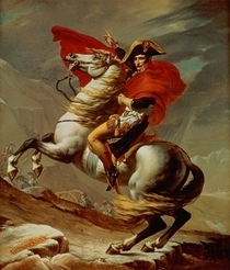 Napoleon Crossing the Alps  by Jacques Louis David