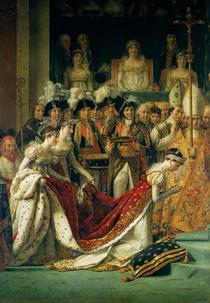 Die Weihe des Kaisers Napoleon und die Krönung der Kaiserin Jose by Jacques Louis David