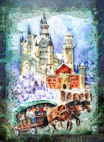 Neuschwanstein Castle Authentic Madness by Miki de Goodaboom