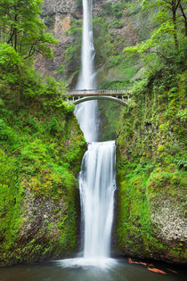 Multnomah Falls in the Columbia River Gorge, Oregon, USA von Sara Winter