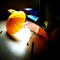 Colorful Umbrellas on a Rainy Shanghai Afternoon by Jay  Speiden