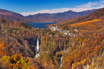 Kegon Falls near Nikko, Japan in autumn by Sara Winter