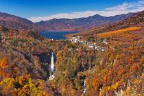 Kegon Falls near Nikko, Japan in autumn von Sara Winter