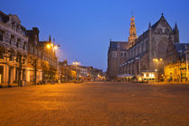 City of Haarlem, The Netherlands at night by Sara Winter