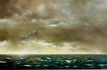 Landschaft Malerei - Grosse Seelandschaft (aus der Serie Wasser) by Geert Bordich