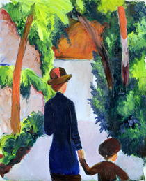 Mutter und Kind im Park by August Macke