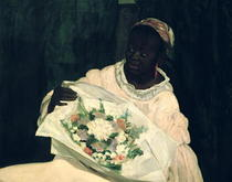 Olympia, Detail der schwarzen Diener von Edouard Manet