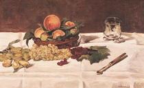 Stillleben: Früchte auf einem Tisch by Edouard Manet