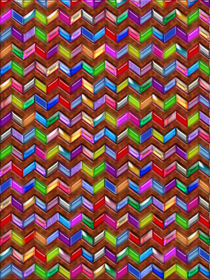 Chevron Pattern Digital Art Faux Leather by Blake Robson