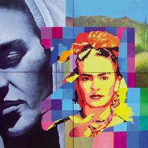 Menschen Malerei - Hommage à Frida Kahlo  von Geert Bordich