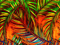 Palm Leaf Art Jungle Fire Edit by Blake Robson