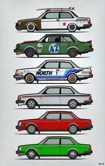 Volvo 240 242 Series Stacked von monkeycrisisonmars