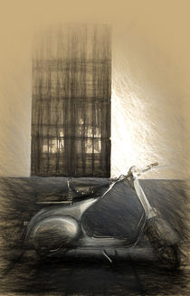 Vespa scooter 15o classic by Perry  van Munster