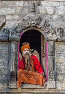 A Sadhu at Pashupatinath by Bikram Pratap Singh