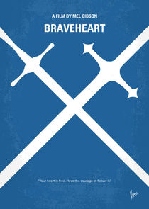 No507 My Braveheart minimal movie poster von chungkong