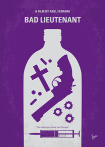 No509 My Bad Lieutenant minimal movie poster von chungkong
