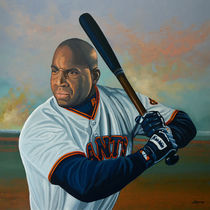 Barry Bonds painting by Paul Meijering